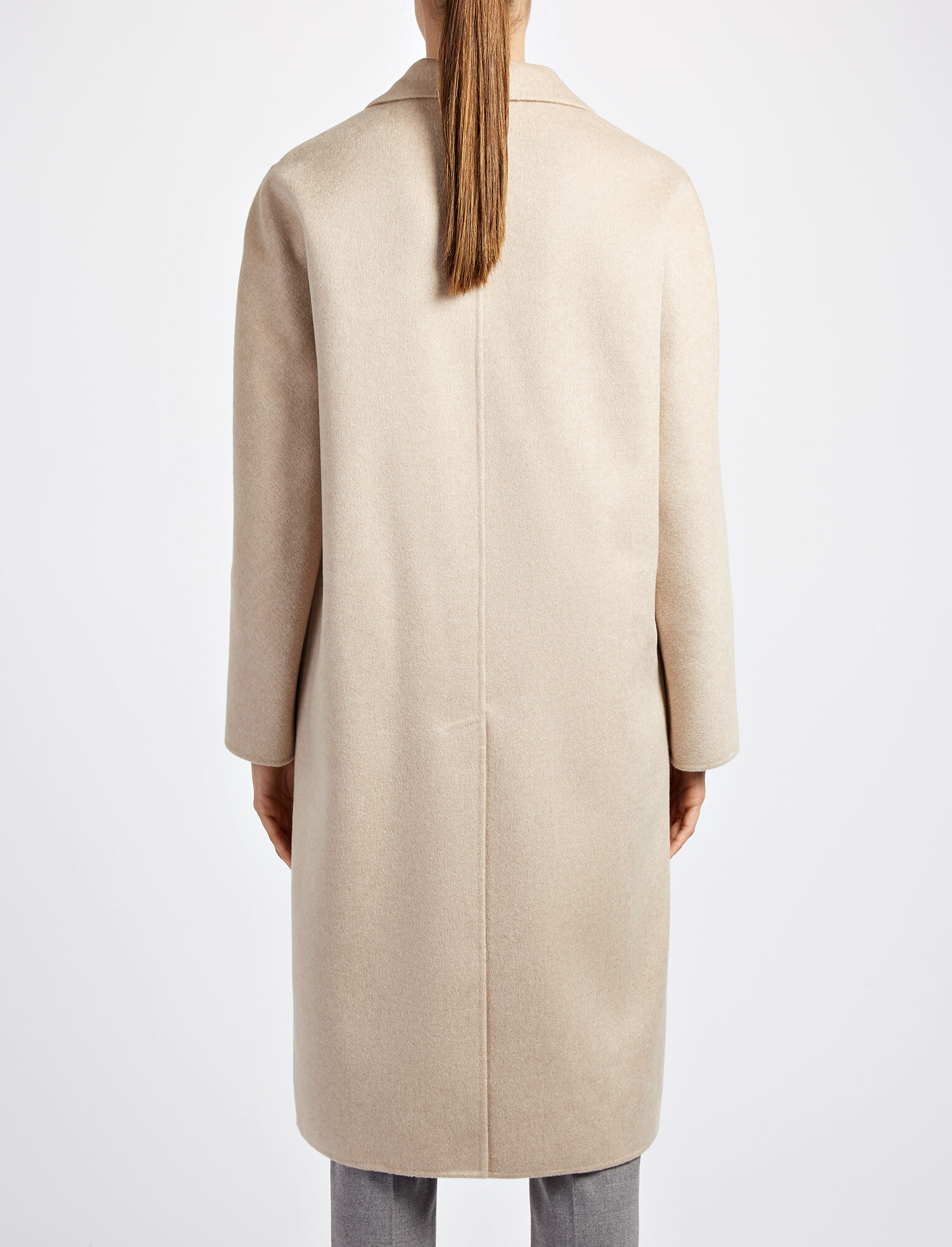Pure Cashmere Kino Coat, in SAND, large | on Joseph