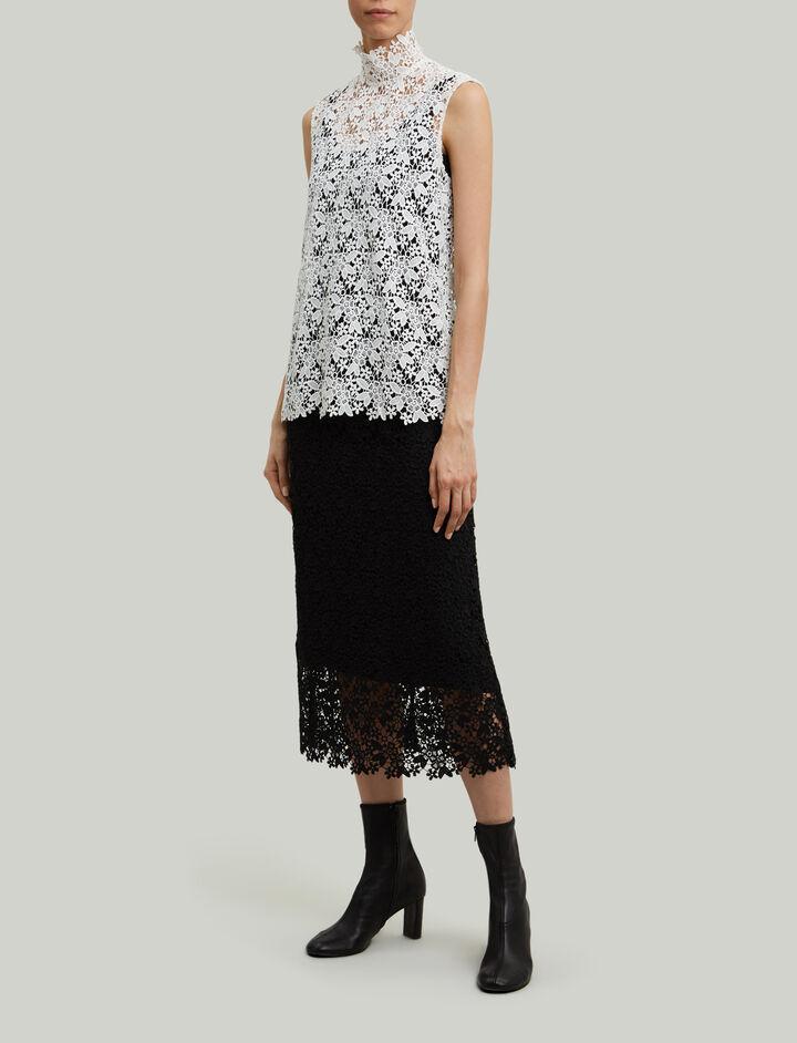Joseph, Court Crochet Lace Blouse, in WHITE