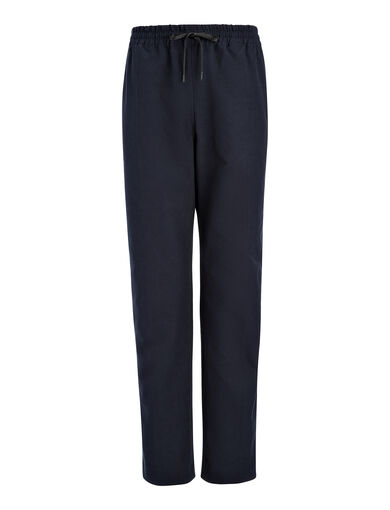 Gabardine Stretch Louna Trouser, in NAVY, large | on Joseph