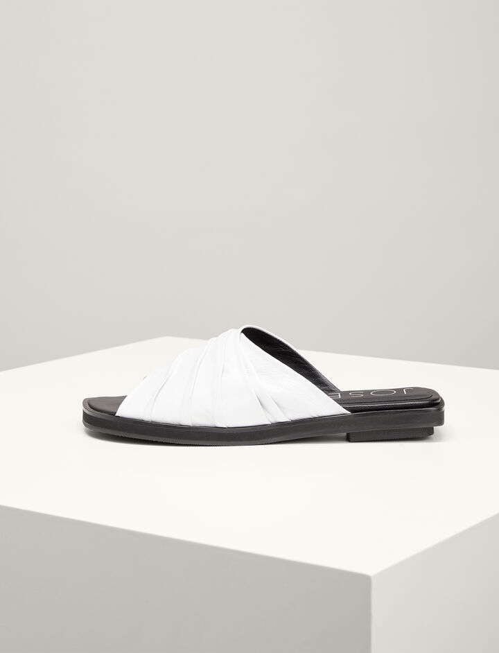 Joseph, Calf-leather Spa shoe, in WHITE