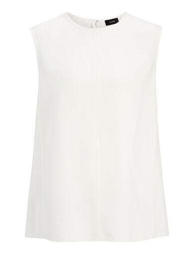 Textured Viscose Sutton Top, in BONE, large | on Joseph