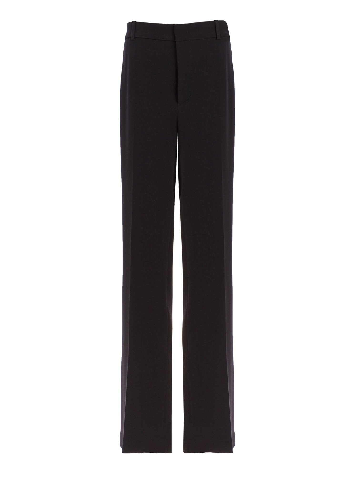 Viscose Cady Ferdy Trousers, in BLACK, large   on Joseph