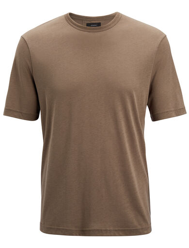 Lyocell Jersey  Tee, in Military, large | on Joseph