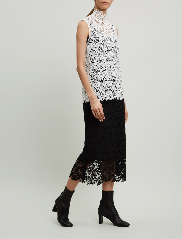 Joseph, Wini Crochet Lace Skirt, in BLACK