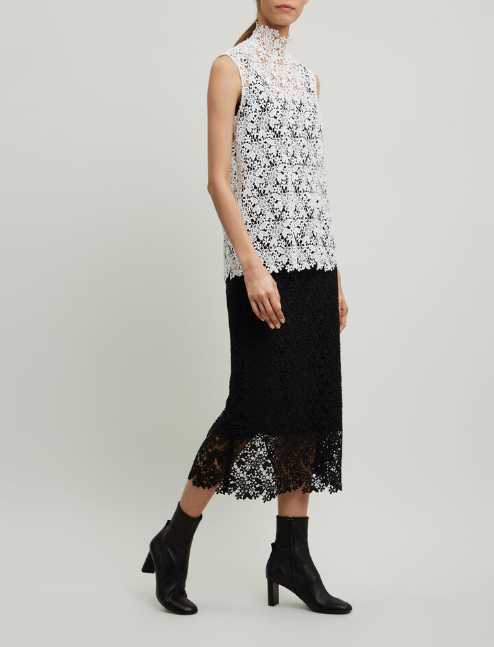 Joseph, Wini Crochet Lace Skirt, in BLACK