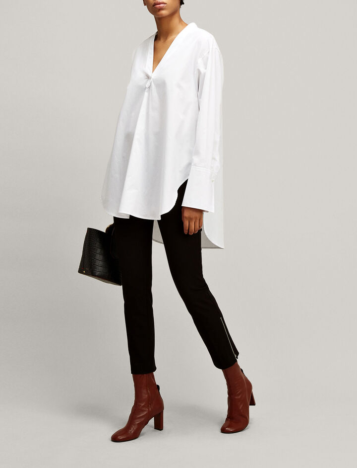Joseph, Eamon Poplin Blouse, in WHITE