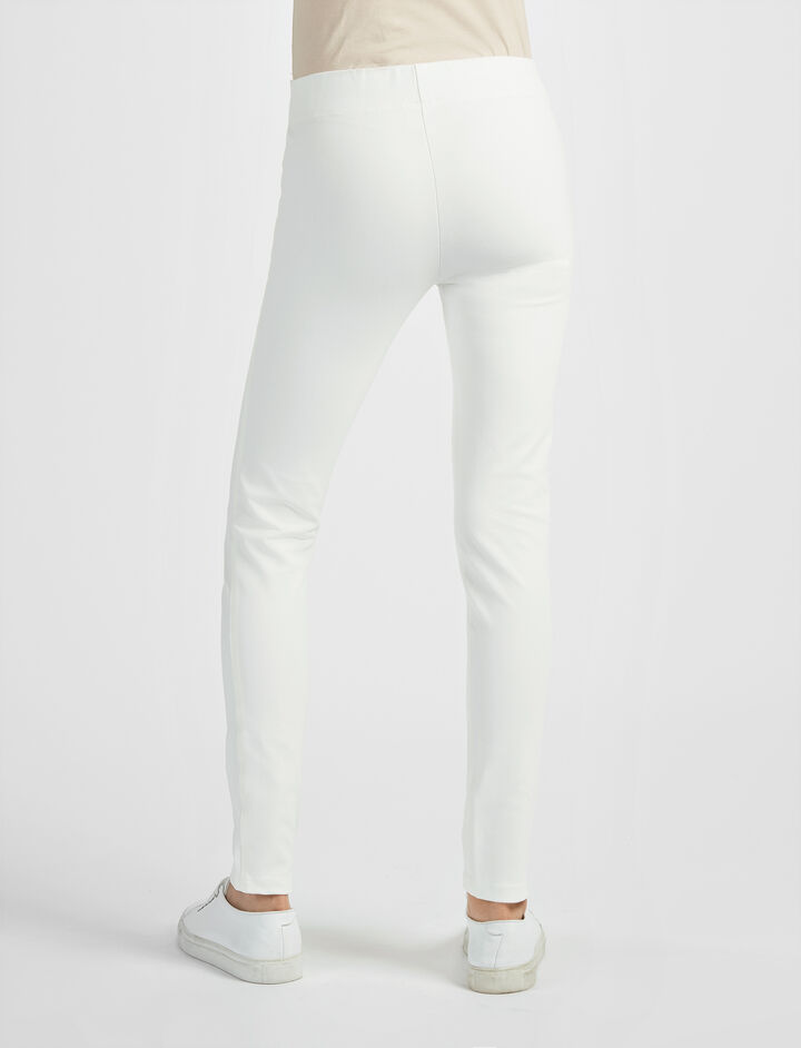 Gabardine Stretch Legging, in OFF WHITE, large | on Joseph