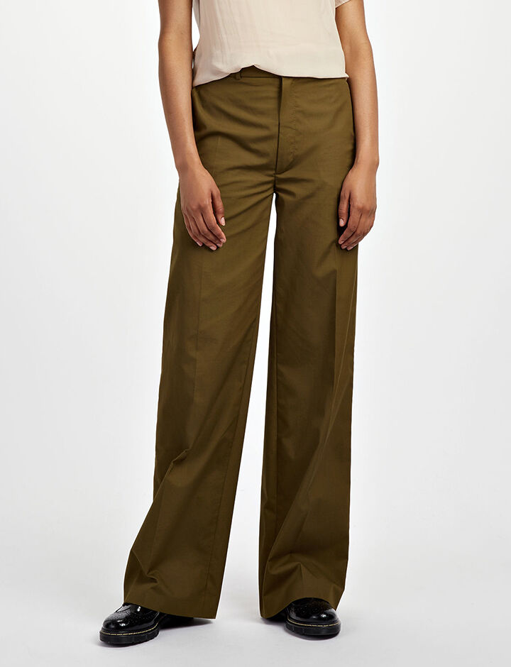 Royal Cotton Ferrandi Trousers, in KHAKI, large | on Joseph