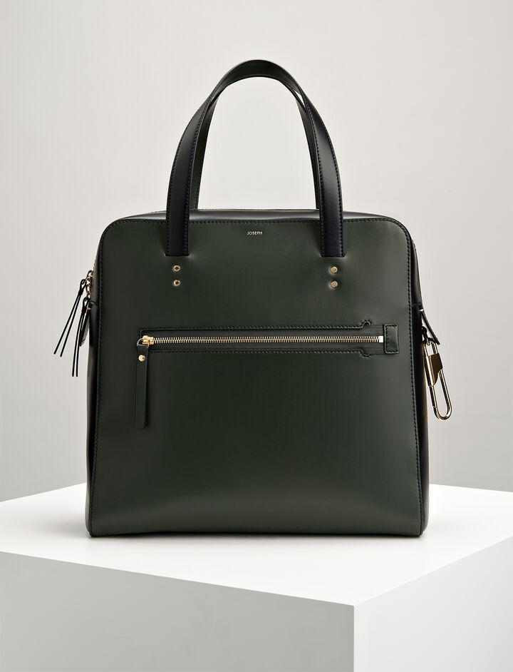 Leather Ryder Bag, in FOREST, large | on Joseph