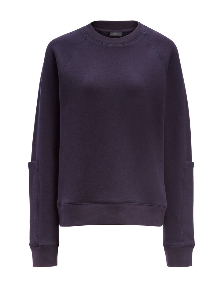Joseph, Molleton Jersey Sweatshirt, in NAVY