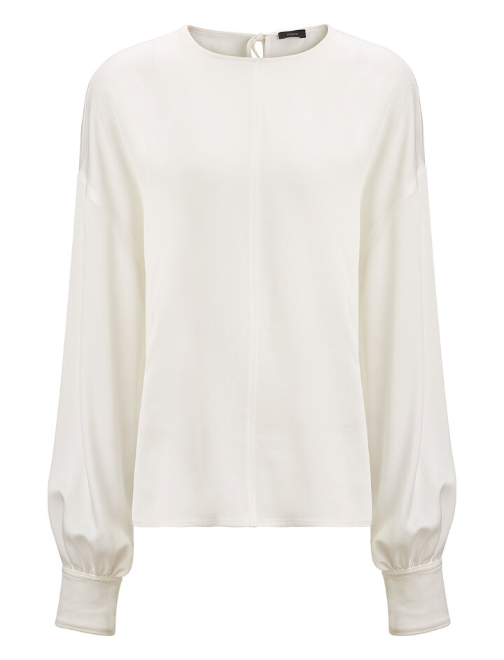 Joseph, Knox Crepe Satin Blouse, in WHITE
