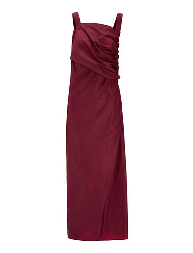 Nylon Arp Dress, in BURGUNDY, large | on Joseph