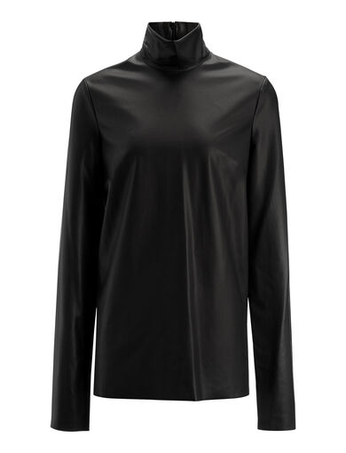 Feather Sky Vienna Blouse, in BLACK, large | on Joseph
