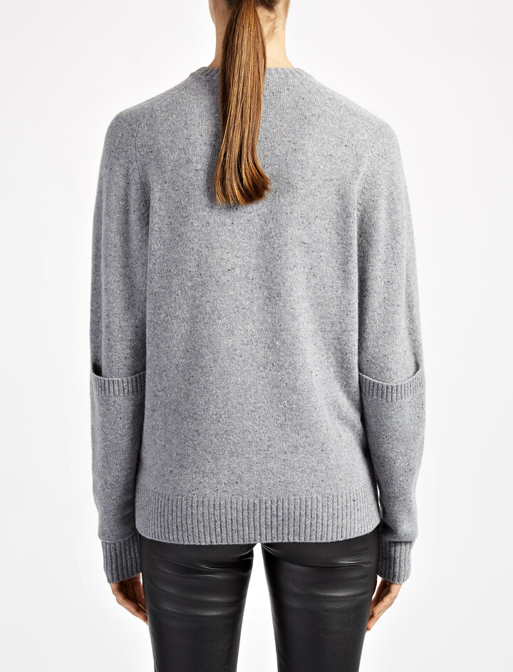 Pure Wool Knit Sweater, in GRAPHITE, large | on Joseph