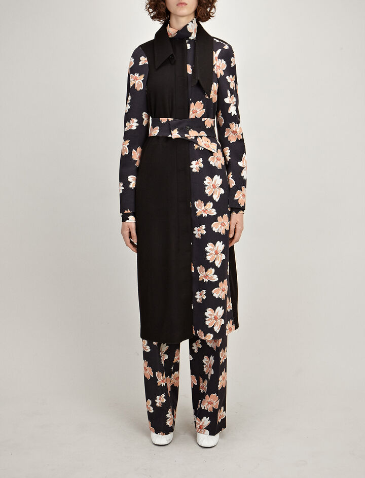 Patchwork FloralWoolLight Nina Coat, in MULTICOLOR, large | on Joseph