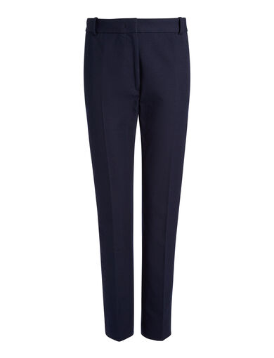 Pantalon Zoom en gabardine stretch, in NAVY, large | on Joseph