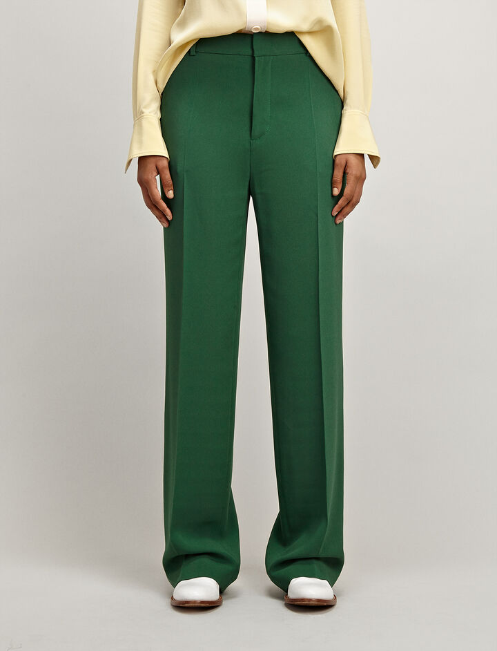 Joseph, Viscose Cady Ferdy Trousers, in EMERALD