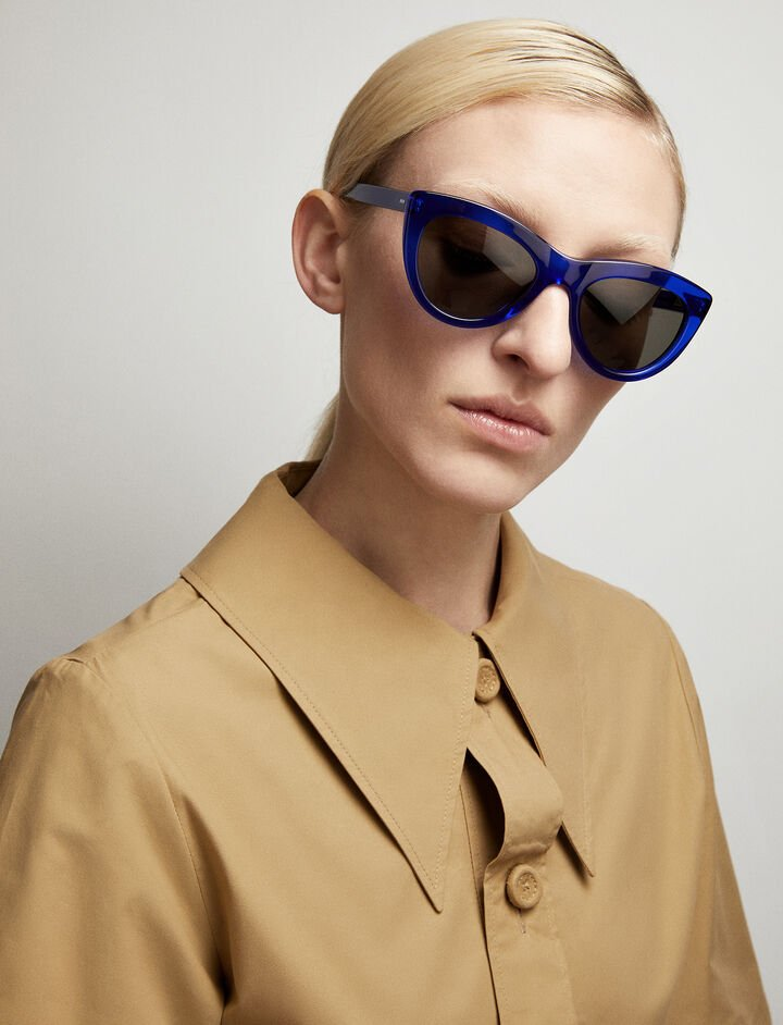 Joseph, Montaigne Sunglasses, in COBALT BLUE