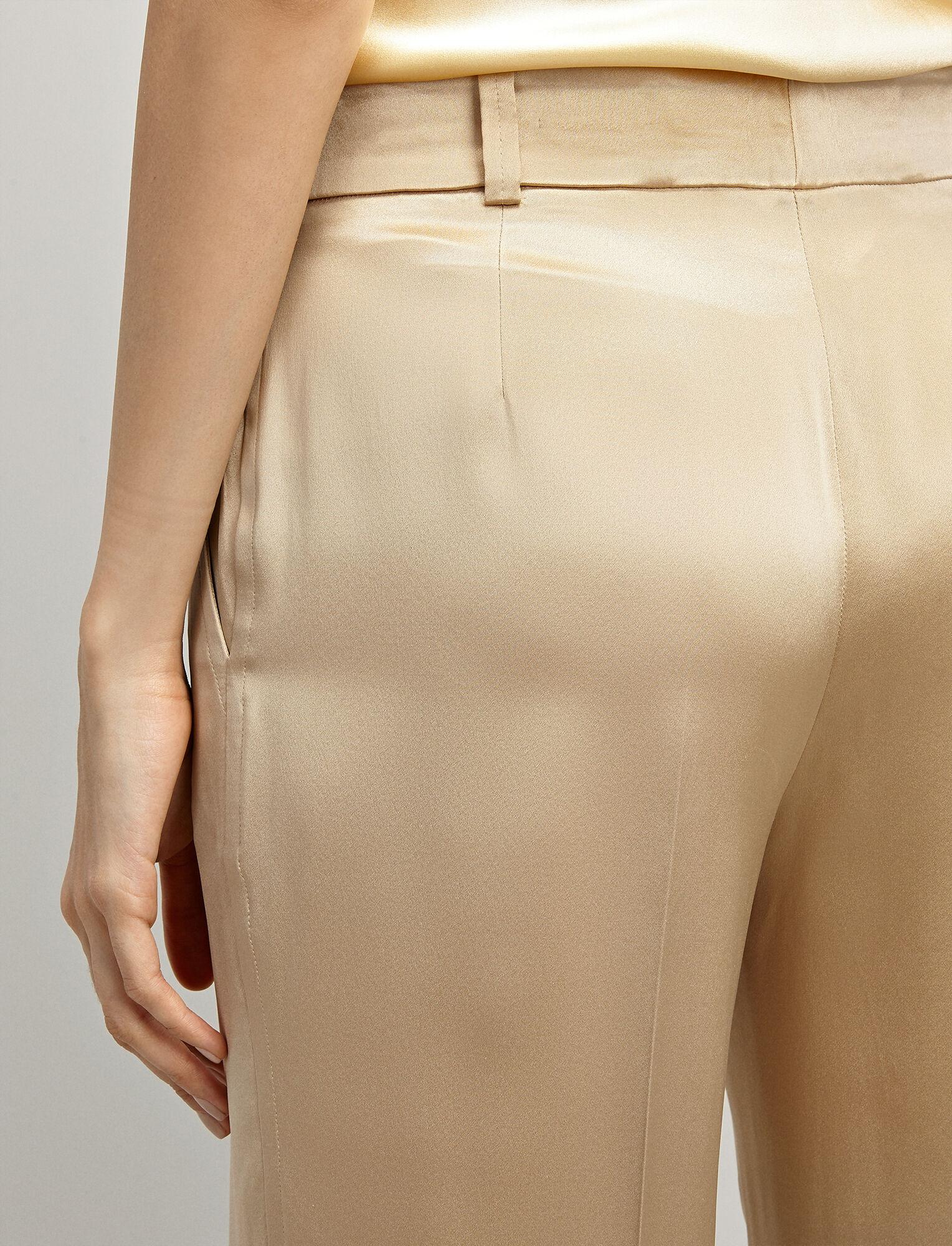 Joseph, Silk-Satin Ferdy Trousers, in BEIGE