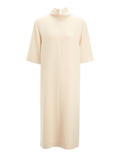 Robe Anya en viscose cady, in DUST, large | on Joseph