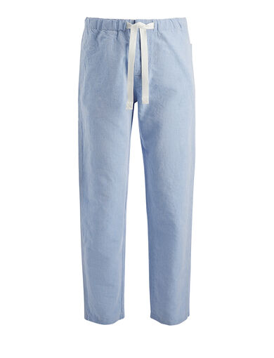Linen Chambray Abington Trouser, in SKY BLUE, large | on Joseph