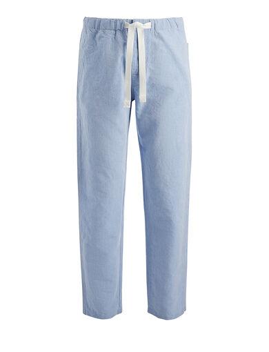 Pantalon Abington en lin chambray, in SKY BLUE, large | on Joseph