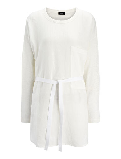 Vintage Linen Jersey Tunic, in OFF WHITE, large | on Joseph