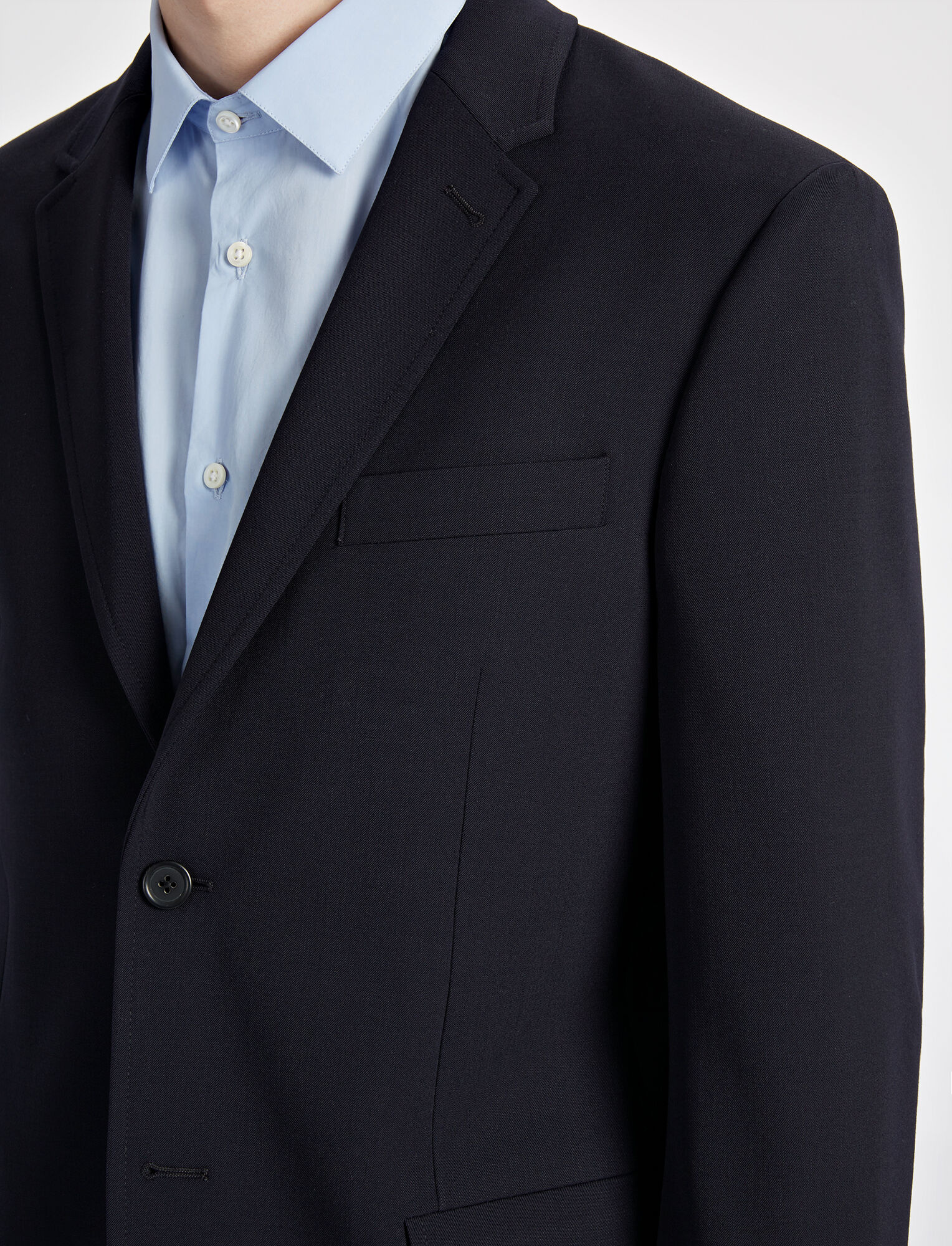 Techno Wool Stretch Halifax Suiting Jaket, in NAVY, large | on Joseph
