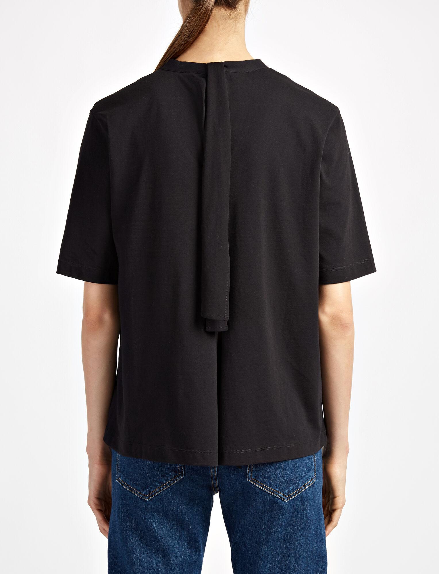 Novelty Knot Tee, in BLACK, large | on Joseph