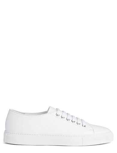 Baskets Trainer en cuir, in WHITE, large | on Joseph