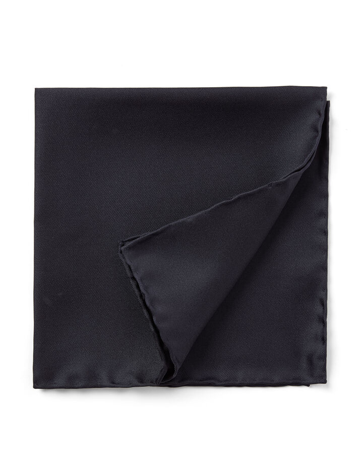 Silk Pocket Square, in NAVY, large | on Joseph