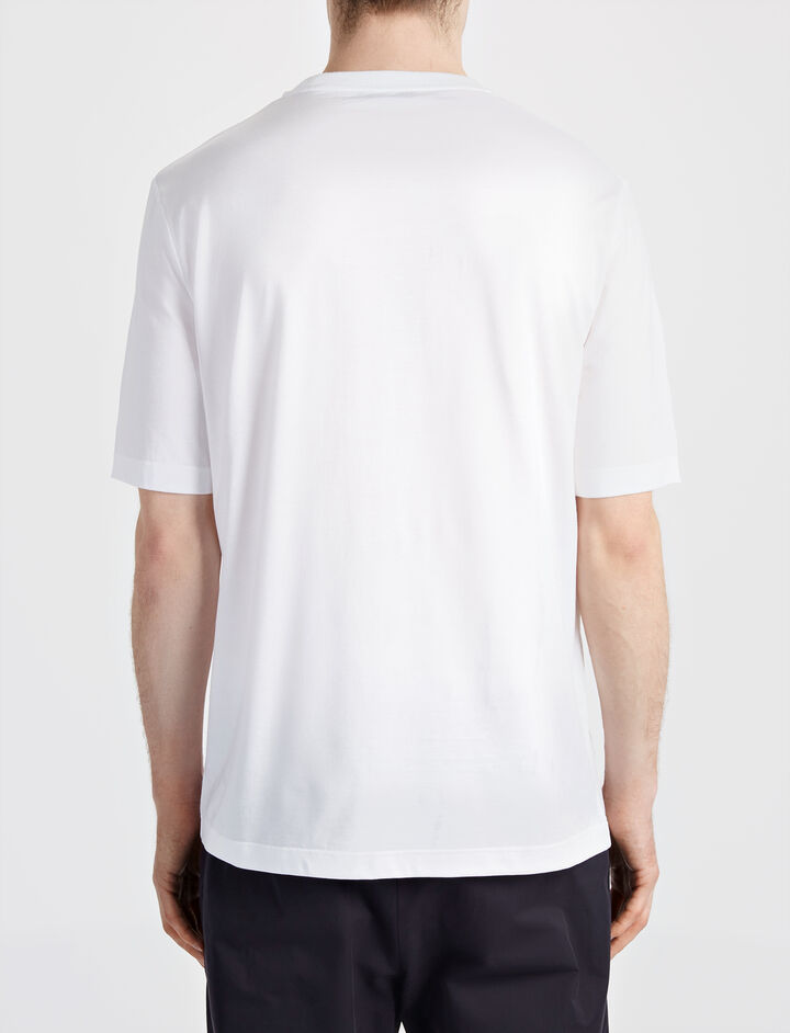 Jersey Badges Tee, in WHITE, large | on Joseph