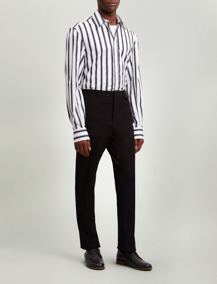 Joseph, Emmanuel Gabardine Stretch Trousers, in BLACK