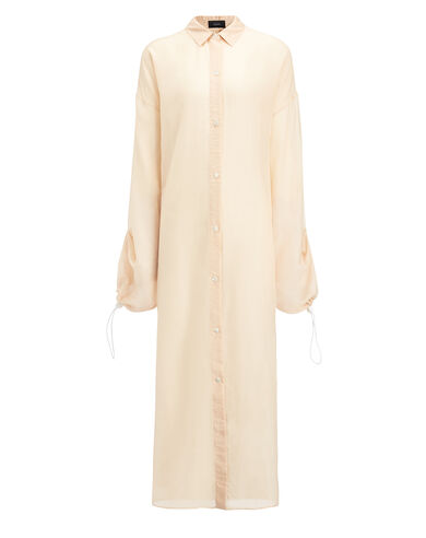Cotton Voile Sina Dress, in FOUNDATION, large   on Joseph