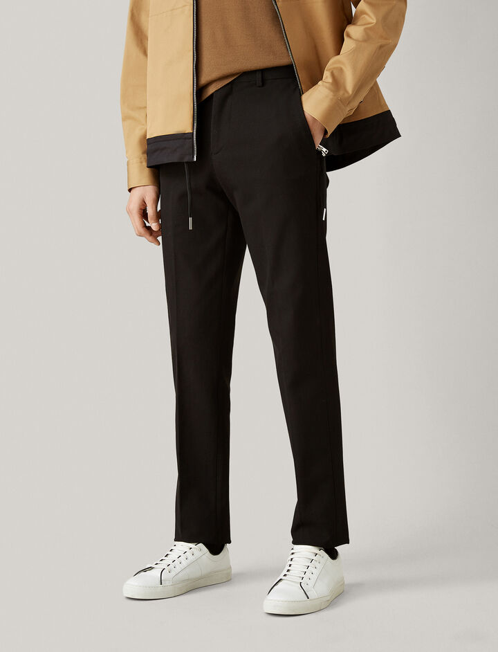 Joseph, Jack Gabardine Stretch Trousers, in BLACK