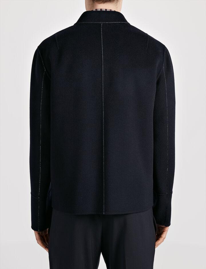 Double Wool Baildon Coat, in INK, large | on Joseph