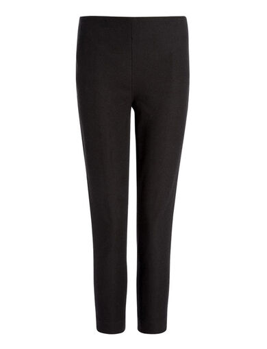 Gabardine Stretch New Tony Cropped Trousers, in BLACK, large | on Joseph