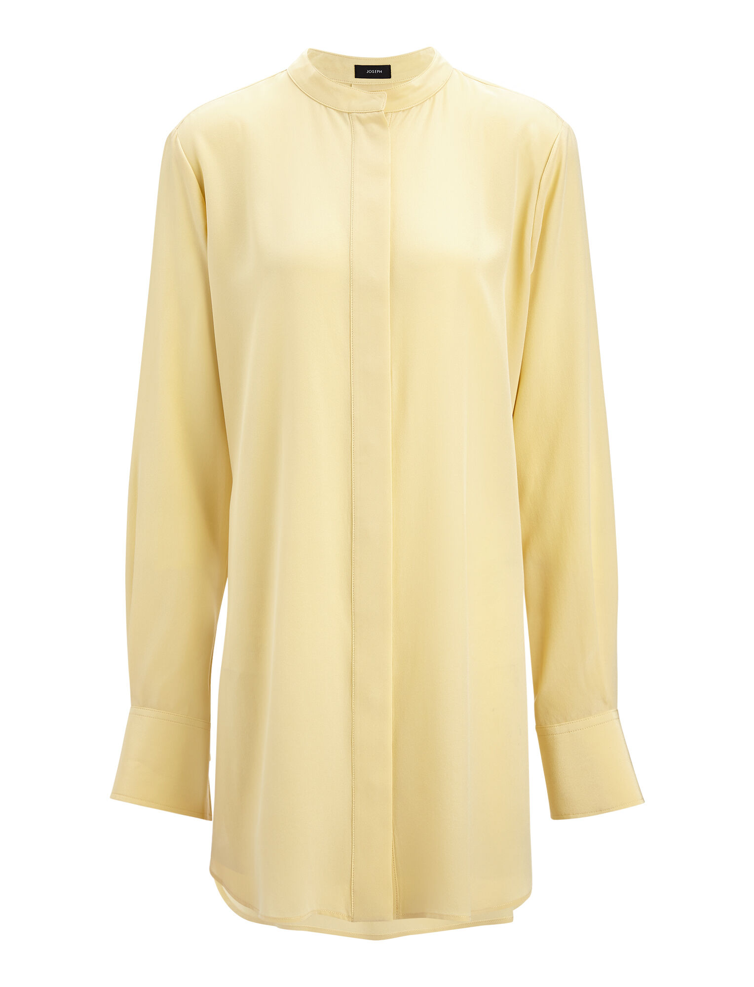 Joseph, Crepe de Chine Carla Blouse, in CUSTARD