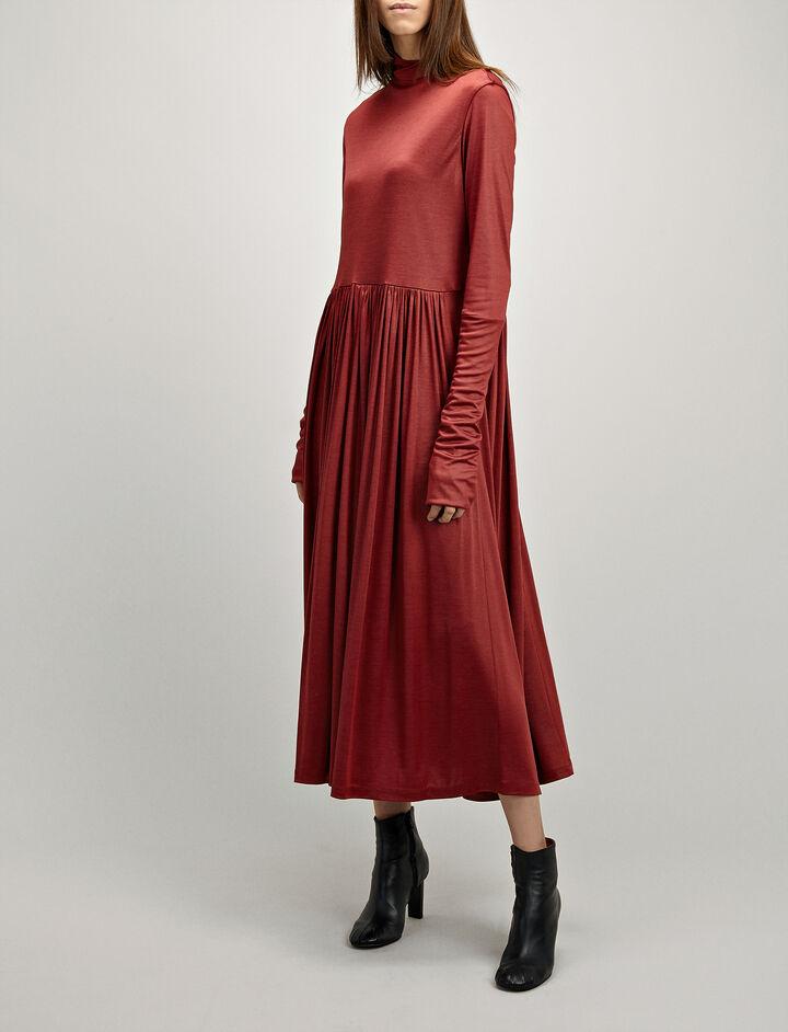 Leotard Jersey Ramona Dress, in CRIMSON, large | on Joseph