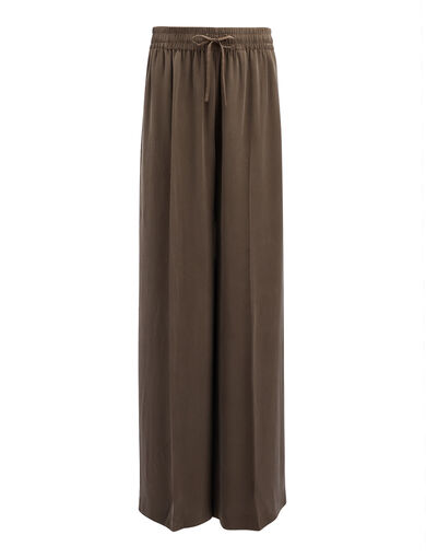 Matt Silk Dylan Trousers, in TAUPE, large | on Joseph