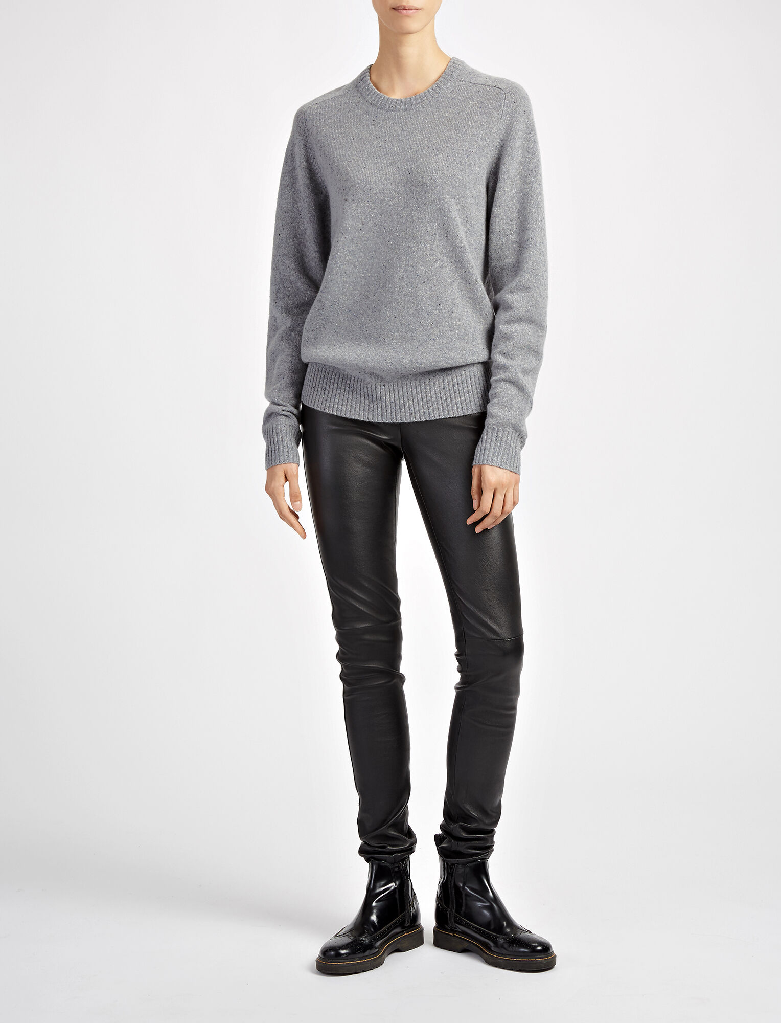 Joseph, Pure Wool Knit Sweater, in GRAPHITE