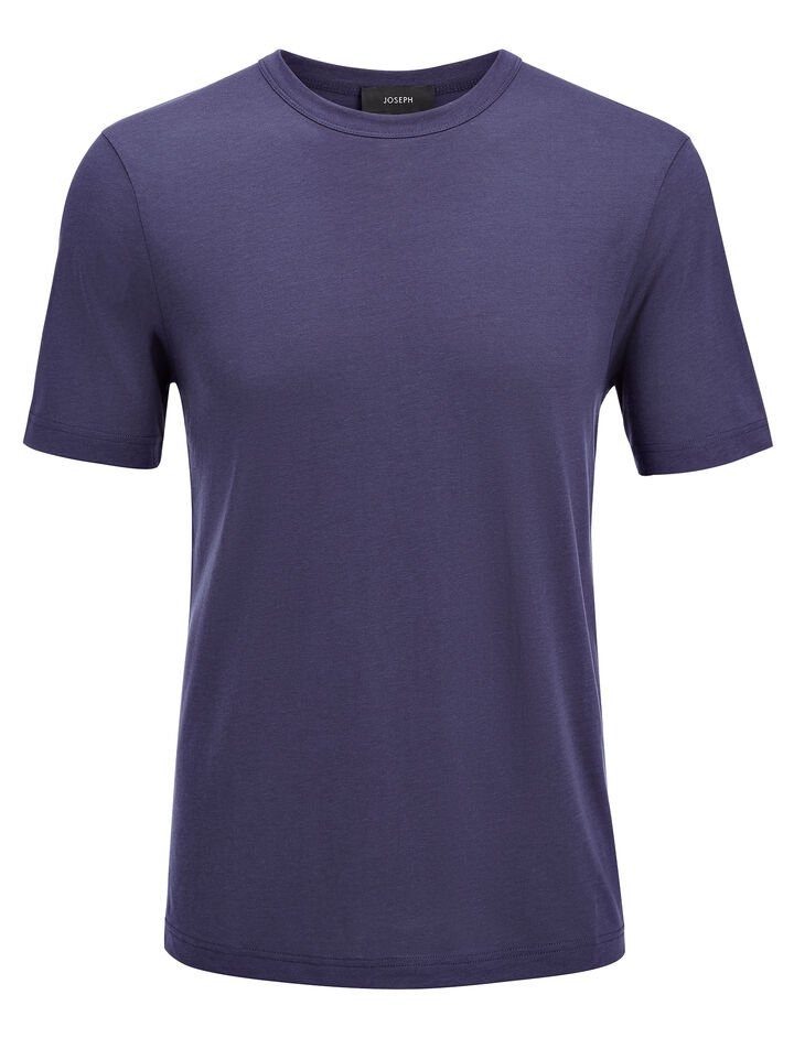 Lyocell Jersey Tee, in MARINE, large | on Joseph