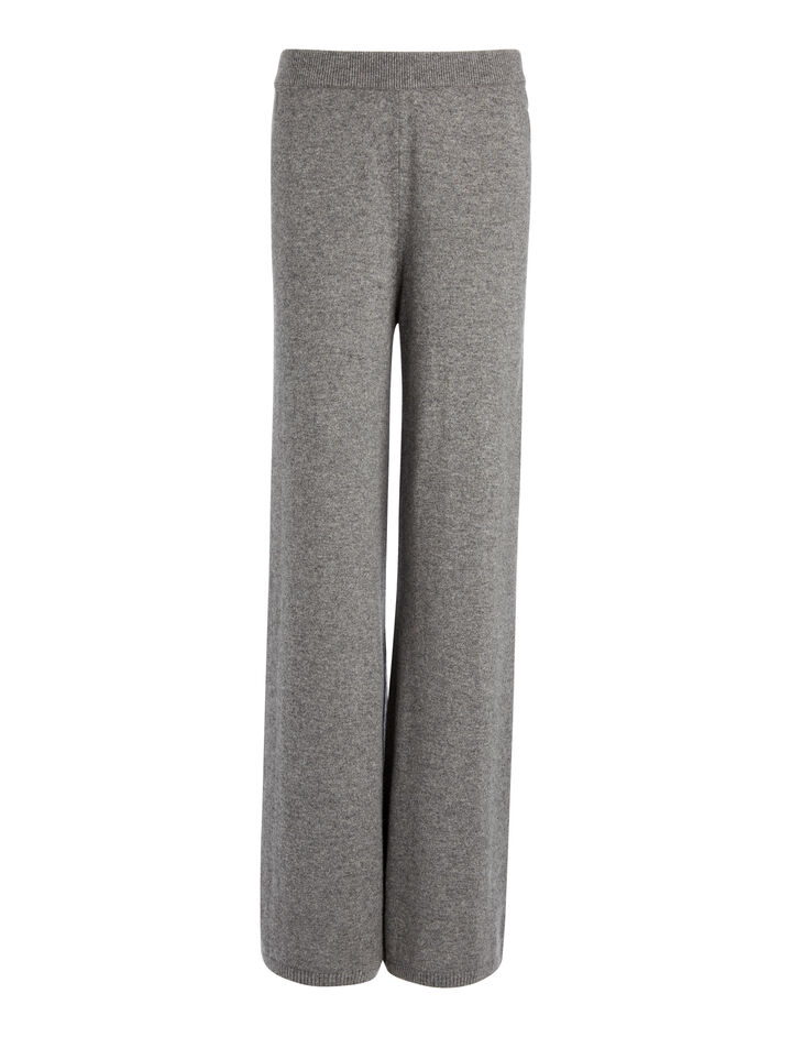 Mongolian Cashmere Trousers, in GRAPHITE, large | on Joseph