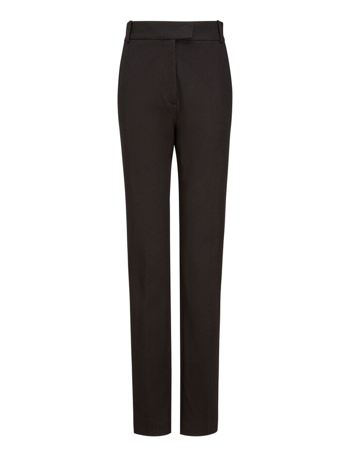 Joseph, Reeve Gabardine Stretch Trousers, in BLACK