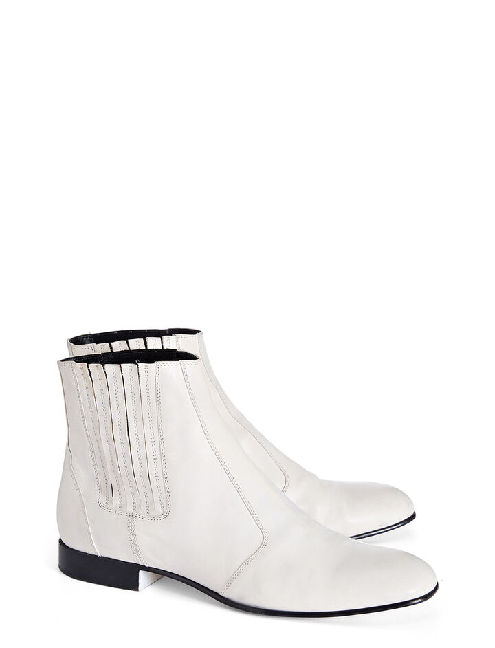Calf Leather Pixie Boot, in WHITE, large | on Joseph