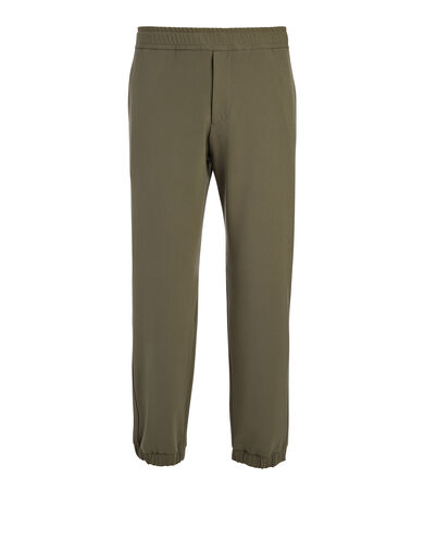 Pantalon Epping en laine techno stretch, in KHAKI, large | on Joseph