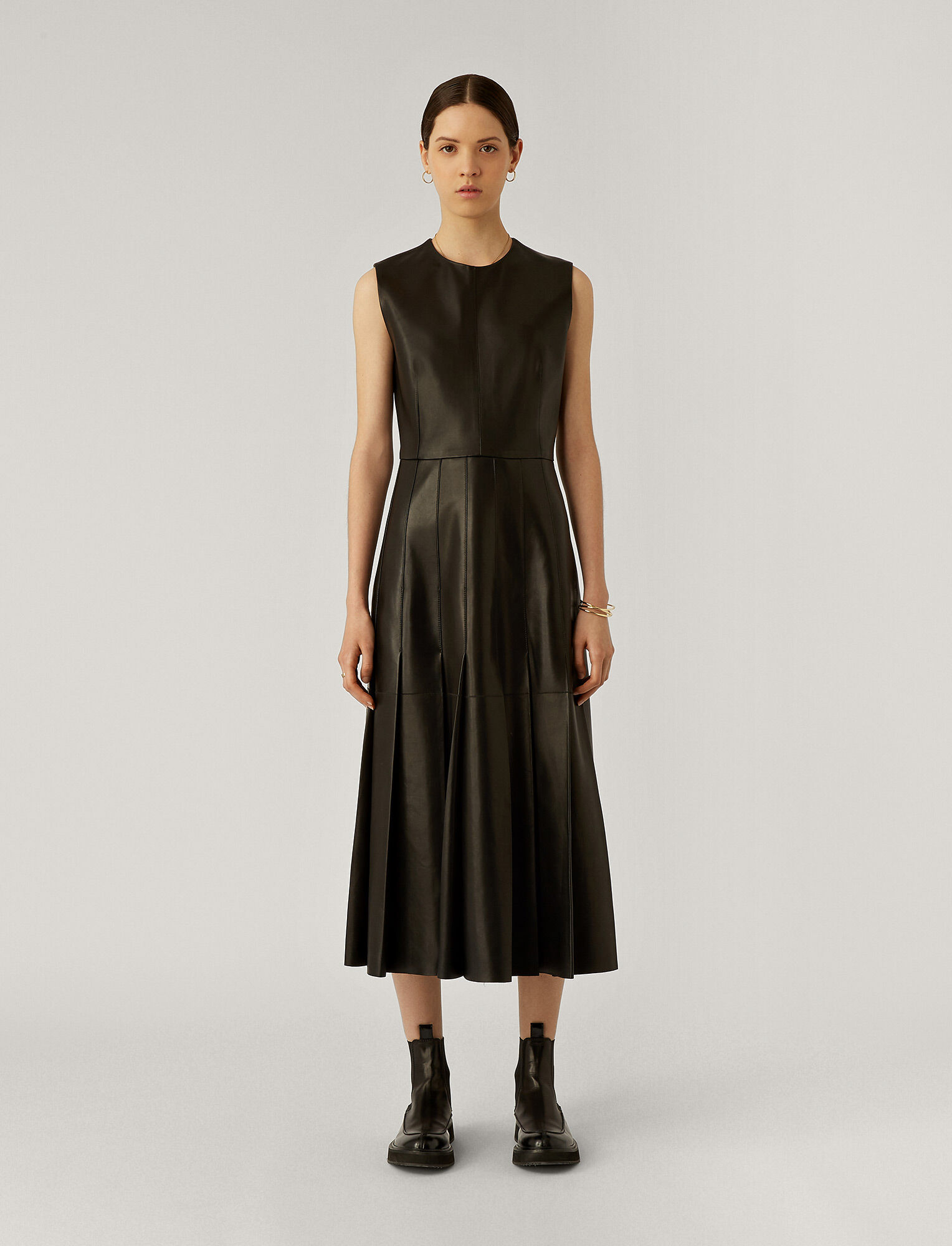 Joseph, Demry Nappa Leather Dress, in Black