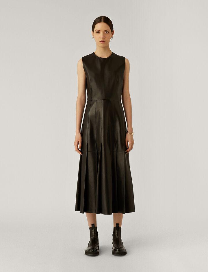 Joseph, Demry Nappa Leather Dresses, in Black