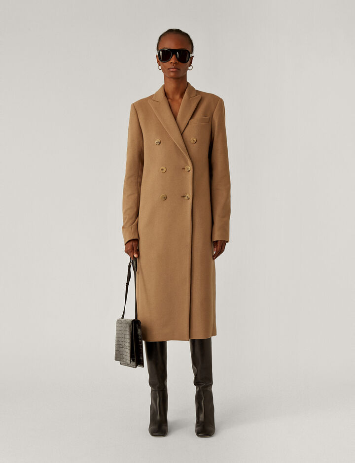 Joseph, Cam Wool Coating Coats, in Saddle