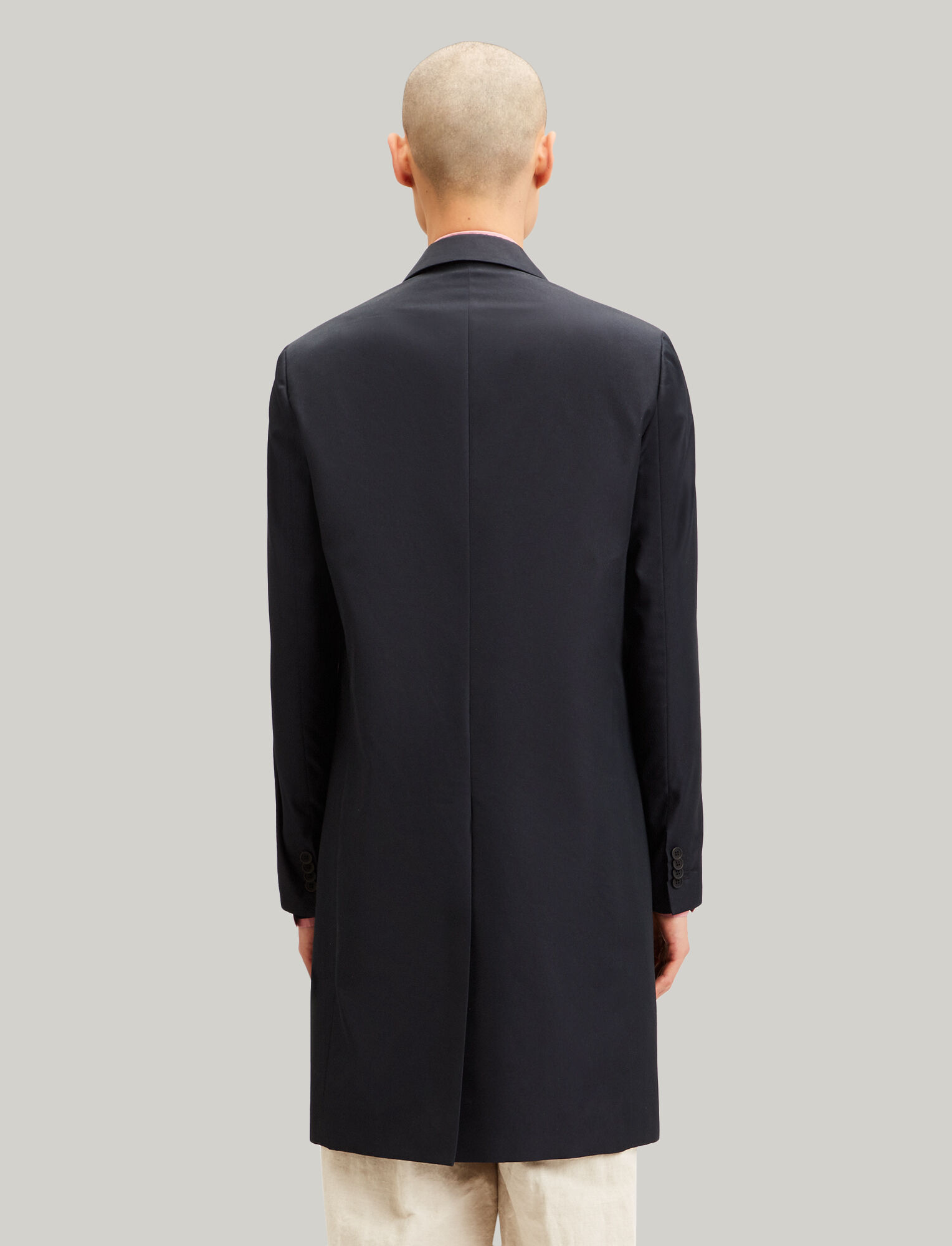 Joseph, London Cotton Nylon Blend Coat, in NAVY